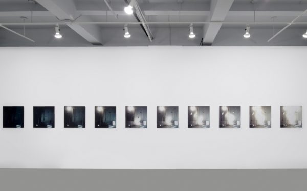 Exposure Test II, 2007, ten 24 x 24 inch (61 x 61 cm) digital c-prints Installation view, 2009, Death and Objects, Or Gallery, Vancouver, BC