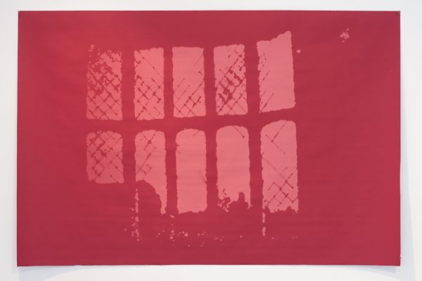 Henry Fox Talbot's Window At Lacock Abbey, 1835, Red, Exposure Time 480 Hours