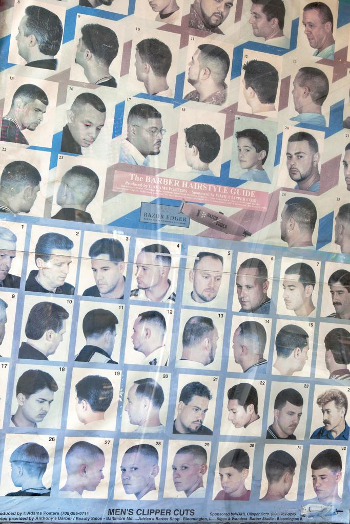 "Barb Choit, ""Barbershop Fade #8,"" 2012, digital c-print, 28 x 18 3/4 inches"