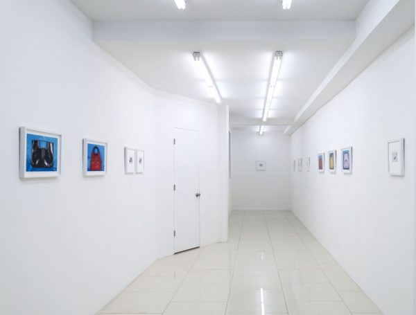 """Shoes and Purses: Barb Choit & Erica Baum"" Rawson Projects, March 5 - March 15th, 2015. Installation view."