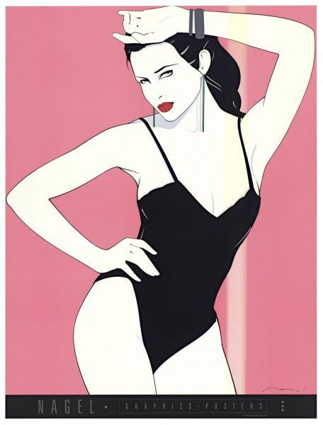 Patrick Nagel, Black Teddy, Fine Art Poster, UV Exposure Time Tw