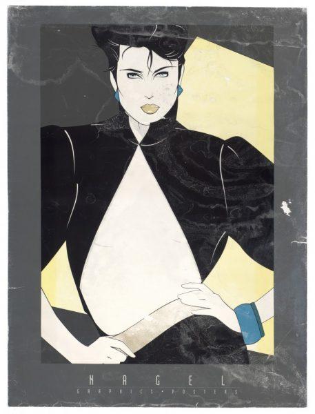Patrick Nagel, Open Jacket, Fine Art Poster, Bleach Bath, UV Exp