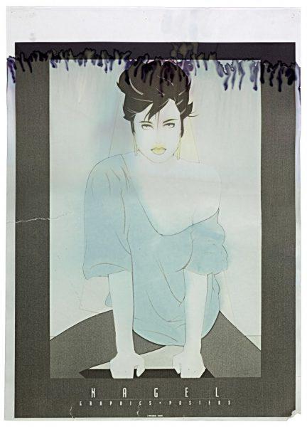 Patrick Nagel, Untitled, Laser Jet Print on Adhesive Paper, Blea