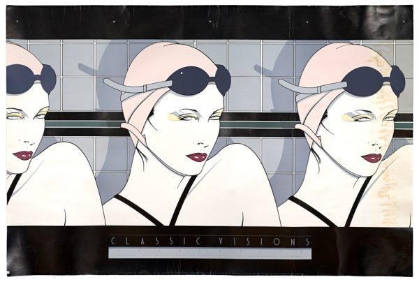 Patrick Nagel, Swimmers, Fine Art Poster, Diluted Bleach Bath, U