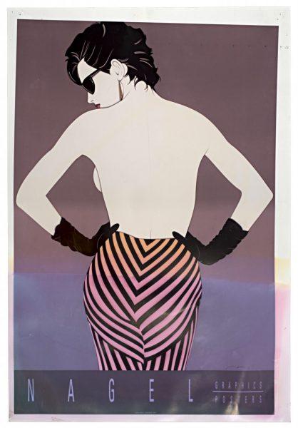 Patrick Nagel, Striped Pants, Ink Jet Print on Commercial Proofi