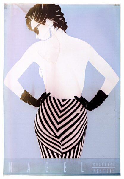 Patrick Nagel, Striped Pants, Ink Jet Print, Bleach Bath, 2009,