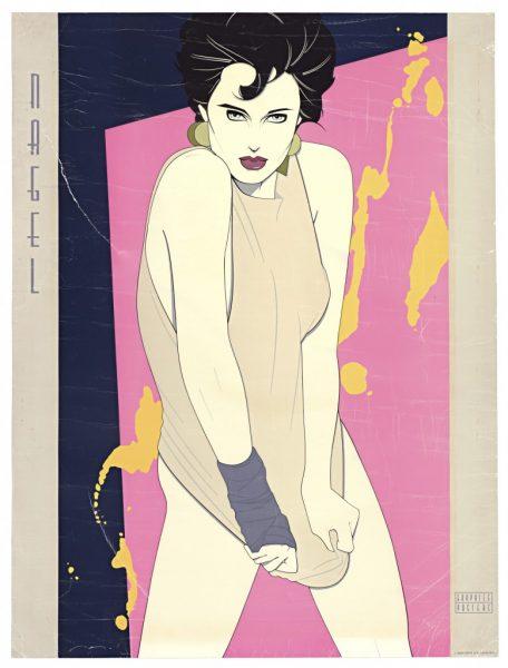 Patrick Nagel, Orange Splash, Fine Art Poster, Bleach Bath, UV E